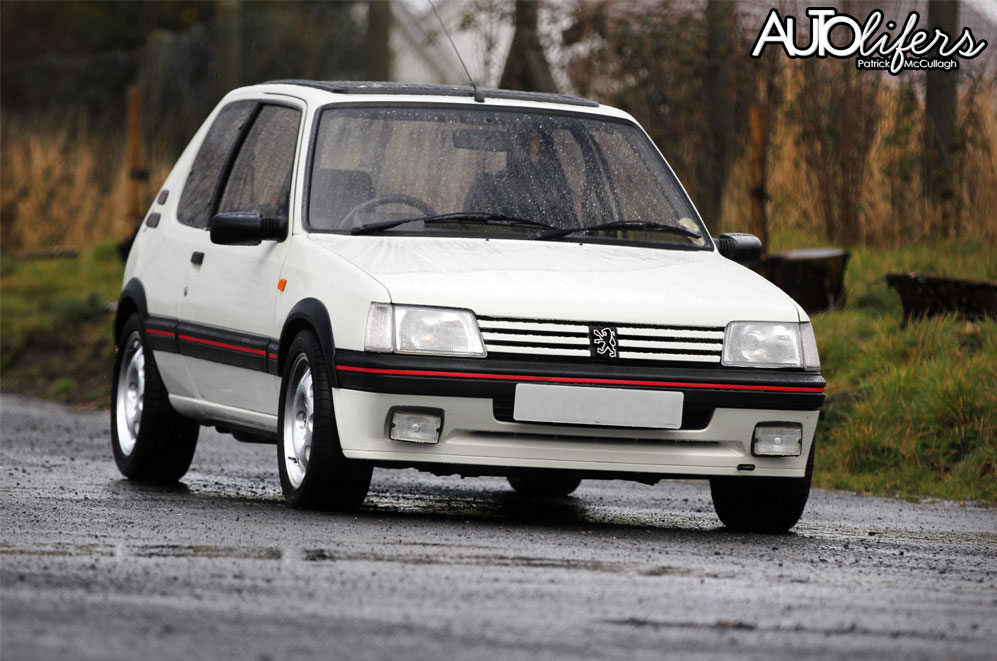 peugeot 205 gti 1 9 in white ian webb specialist cars. Black Bedroom Furniture Sets. Home Design Ideas